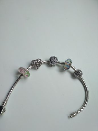 Бусинка мурано пандора шарм муранское стекло pandora серебро браслет