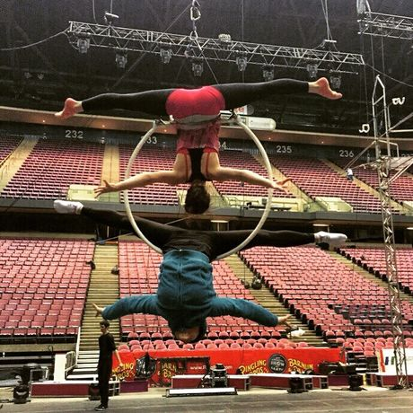 Профессиональное воздушное кольцо Aerial hoop воздушная гимнастика