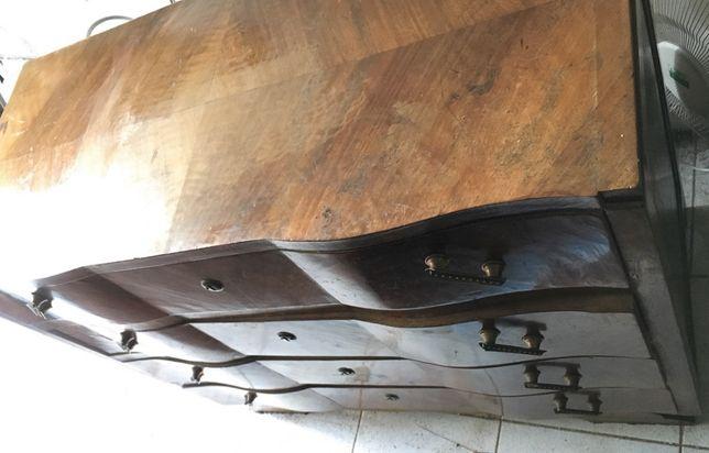 Cómoda Art Deco com mesas de cabeceira
