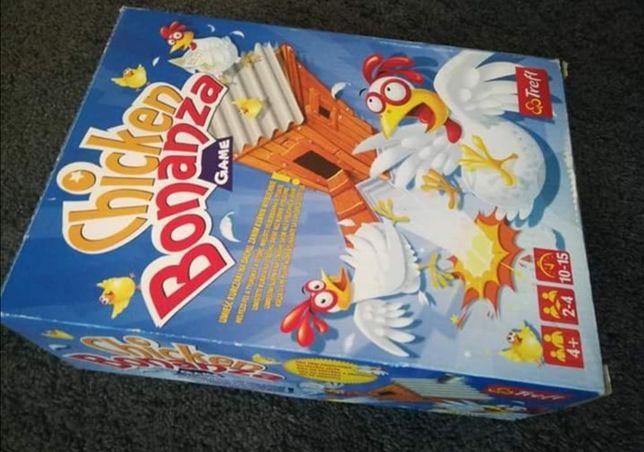 Zestaw zabawek gra Trefl Chicken Bonanza, klocki, puzzle Scooby-Doo