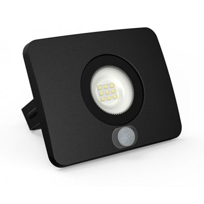 SURFI Naświetlacz LED z sensorem 230V 10W 700lm IP65 WW czarny