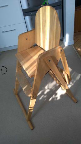 składane drewniane krzesło dziecięce / do karmienia