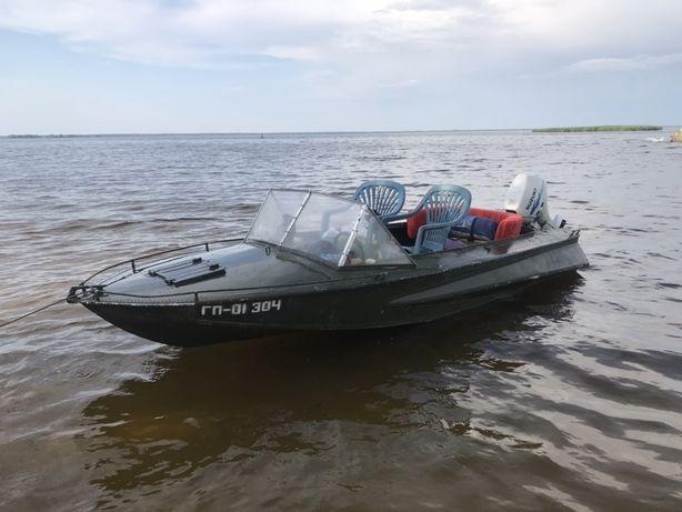 """Лодка """"Обь"""" с двигателем Suzuki 15лс"""