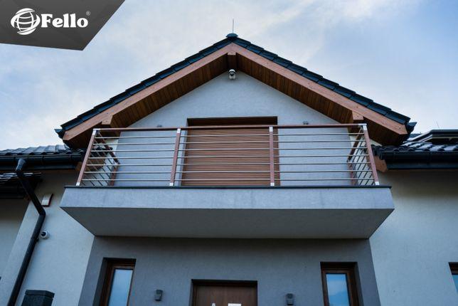 Balustrada Standard taras balkon barierka schody poręcz montaż wysyłka