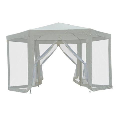 PAWILON Namiot ogrodowy 3,9 x 3,9m kremowy altana