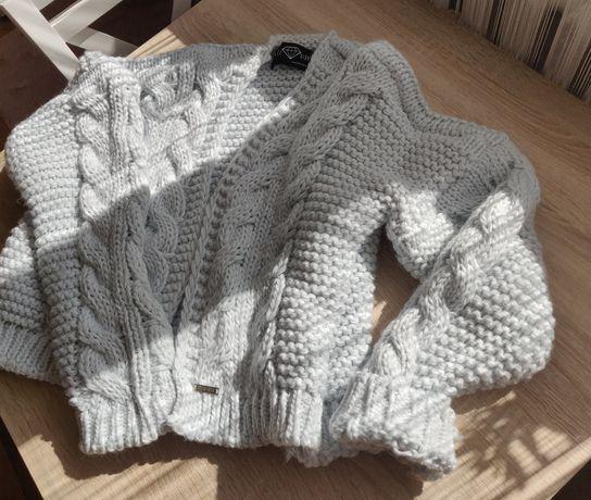 Sweter miękki ciepły oversize błękitny