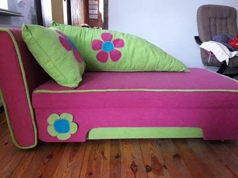 Kanapa sofa dla dziewczynki różowa