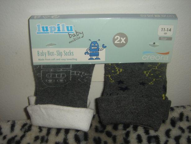Skarpetki niemowlęce bezuciskowe - komplet 2 szt r. 11-14, nowe