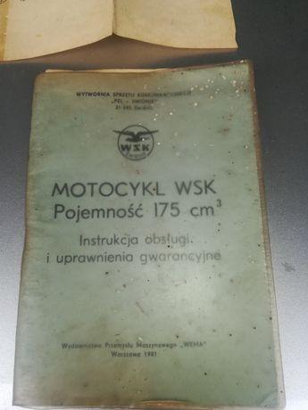 Instrukcja obsługi WSK 175 plus dodatki