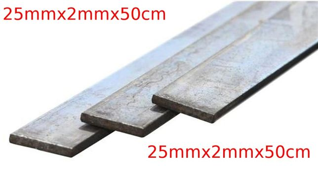 Płaskownik Stalowy Pręt Płaski Czarny 25x2mm 50cm