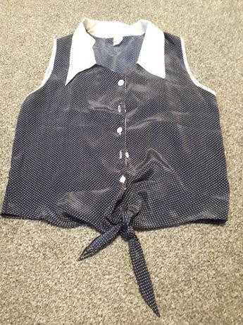 Bluzka wiązana w kropki