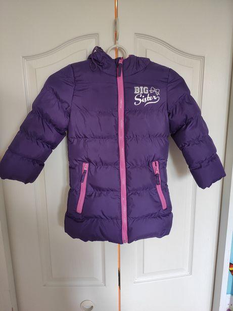 Ciepła kurtka dziewczęca 98/104 110