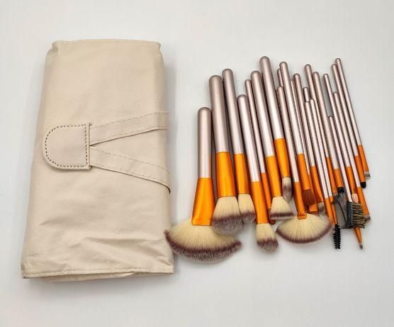 Набор кистей для макияжа: 24 кисти в сумочке, makeup, мейкап.