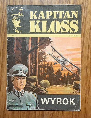 "Komiks Kapitan Kloss ""Wyrok"" nr 9 wyd. I z 1972 roku"
