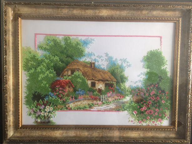 Картина бісер пори року весна картина бисер барвиста вишиванка