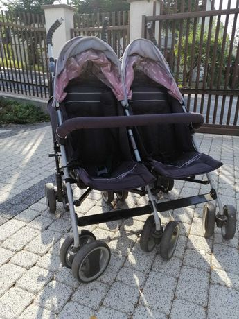 Wózek podwójny bliźniaczy rok po roku spacerówka easy go