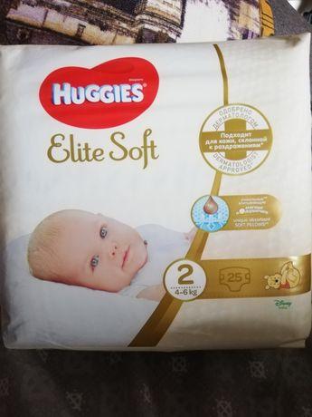 """Подгузники (памперсы) Huggies Elite soft """"2"""" 25 шт (2 пачки)"""