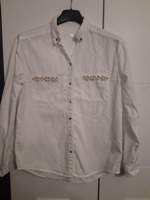 biała koszula bluzka święta szkoła dla dziewczynki perełki 146/152 Michałów - image 1