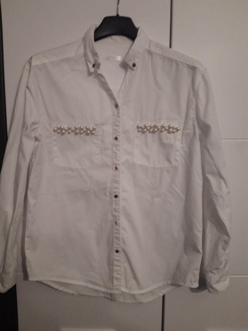 biała koszula rozpoczęcie roku szkoła dla dziewczynki perełki 146/152
