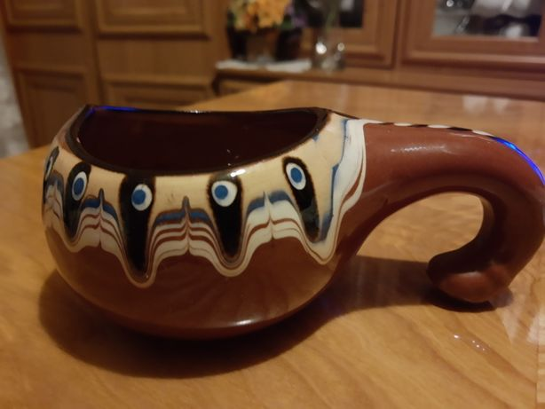 Vintage Ceramika-Naczynko Pawie Oko Bułgaria