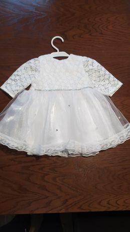 Sukienka na chrzest dla dziewczynki 62