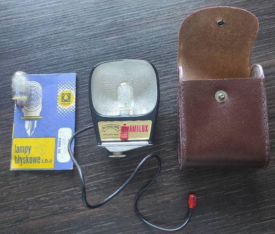Lampa błyskowa AMILUX Wielkopolanka + 2 żarówki błyskowe + futerał