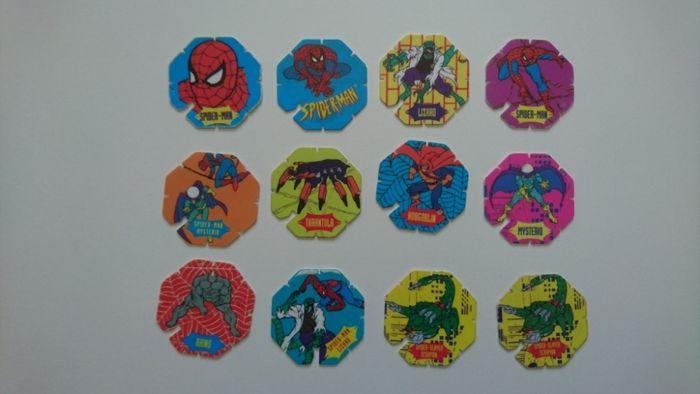 Spider-man, Spiderman tazo kolekcjonerskie, tazos Piaski - image 1