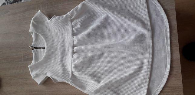 Sukienka w kolorze białym,  rozm 140