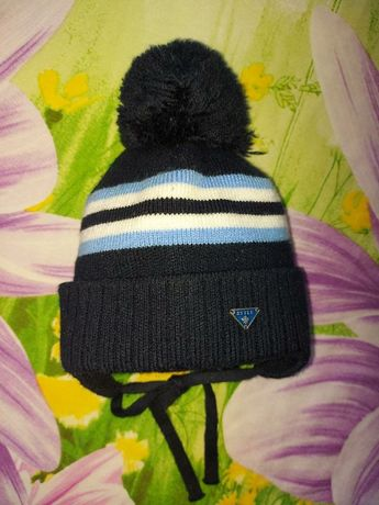 42-44см/Зимняя шапка на мальчика,теплая шапочка на флисе