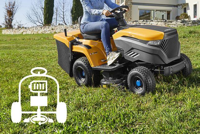 Akumulatorowy traktor ogrodowy Stiga e-Ride C300. RATY 20x0%, cichy