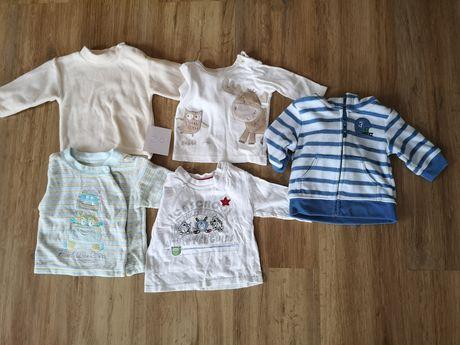 Bluzki niemowlęce rozmiar 56