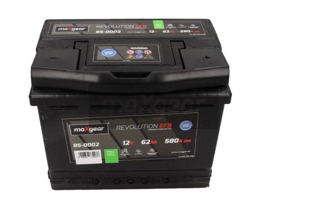 Akumulator maXgear REVOLUTION EFB Start-Stop 12V 62Ah 580A P+ Kraków Kraków - image 1