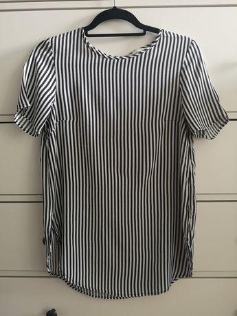H&M bluzka w paski biała czarna 36 S