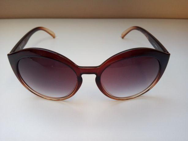 Damskie okulary przeciwsłoneczne brąz
