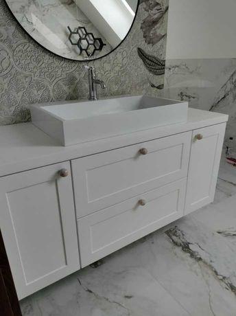 Szafka pod umywalkę nablatową - meble łazienkowe na wymiar