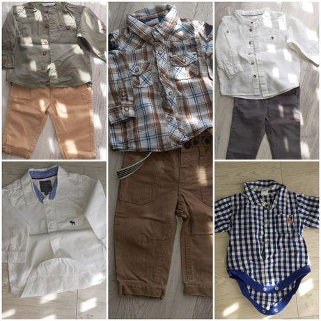Zestaw spodnie koszula koszulobody