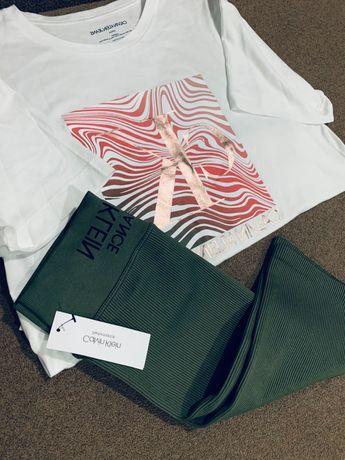 Комплект костюм футболка велосипедки топ шорты Calvin Klein