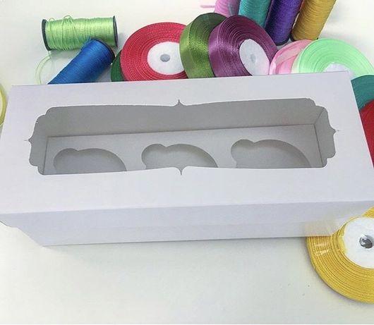 Коробка белая подарочная с окном крышка+дно 23*9*9 см упаковка