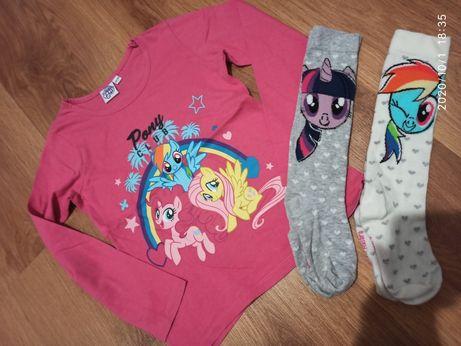 Koszulka + podkolanówki My little pony