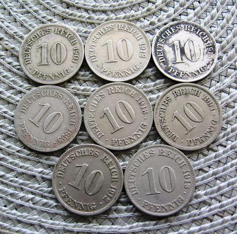 Niemcy 10 Pfennig Cesarstwo MN Czytaj opis