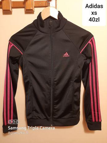 Bluza sportowa xs adidas czarno-rozowa
