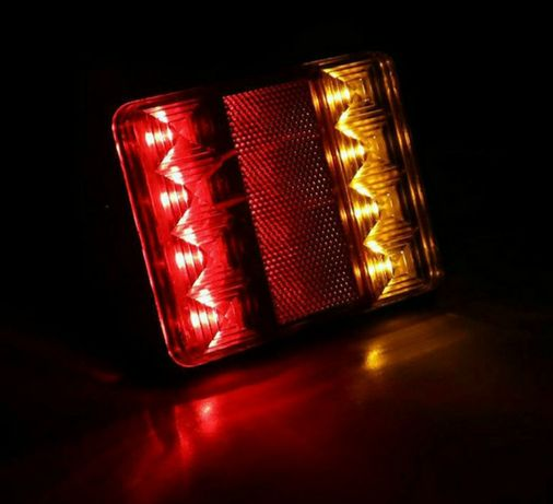 Światła Przyczepy Lampa Laweta światło 8ledów Nowa 11,5x9x2,2