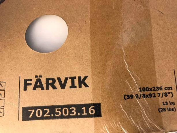 FARVIK panel do drzwi przes.PAX białe szkło, 100x57 cm ikea 702.503.16