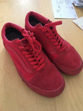 Vans OLD SKOOL - triple red - czerwone - rozmiar 38,5