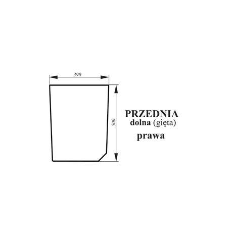 Szyba przednia dolna prawa zielona Zetor Forterra Proxima ACX162