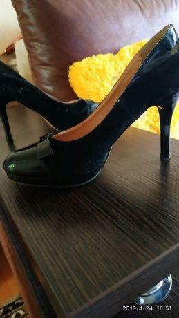 туфли,замш+лак натуральный