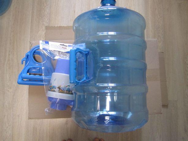 Помпа/насос для воды + пэт бутыль новый 11л/19л с крышкой