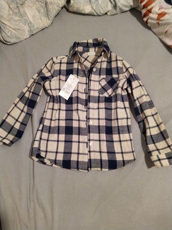 Koszula w kratę dla dziewczynki 5-6 lat