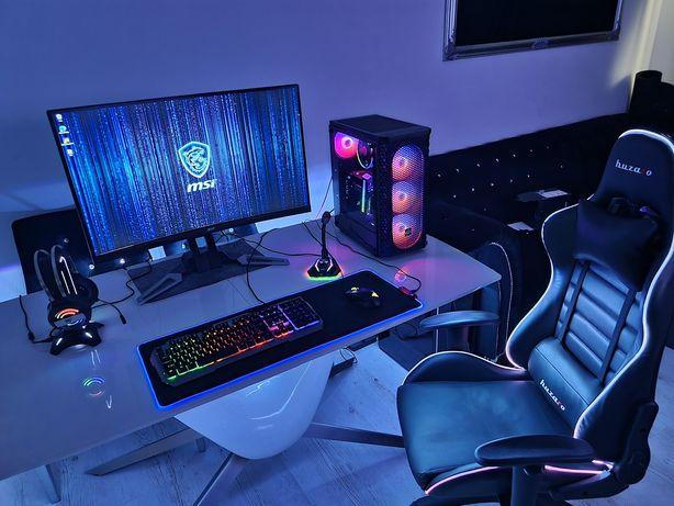Gamingowy komputer Msi i7 16gb ssd+1tb Gtx zestaw do Gier Potwór!