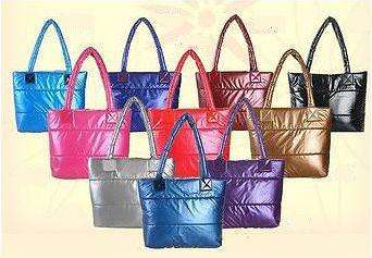 Стильная Стеганная глянцевая дутая сумка 350 Мариуполь - изображение 1